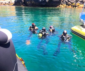 Aplicando primeros auxilios en el buceo y en deportes de agua.